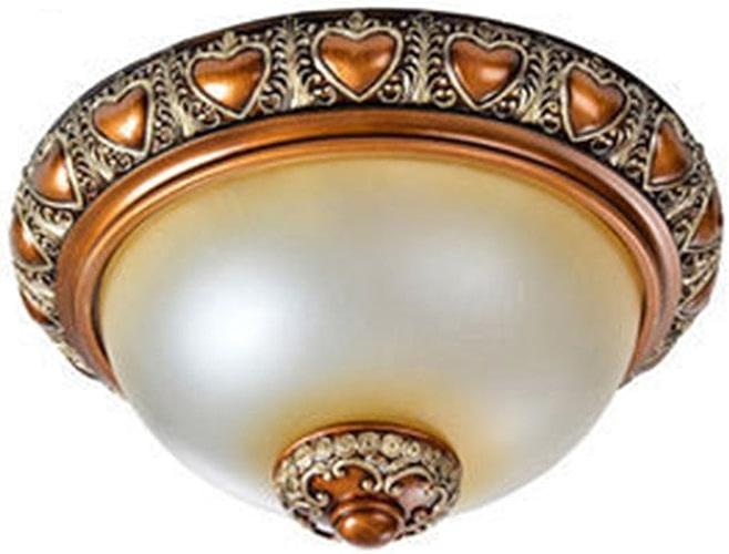 GuoShop- Feux de plafond de style européen Lumières de la chambre Rétro Résine rurale Balcon Aile Hall Hall Hall Lumières E27 lumière Mouth (taille   S)