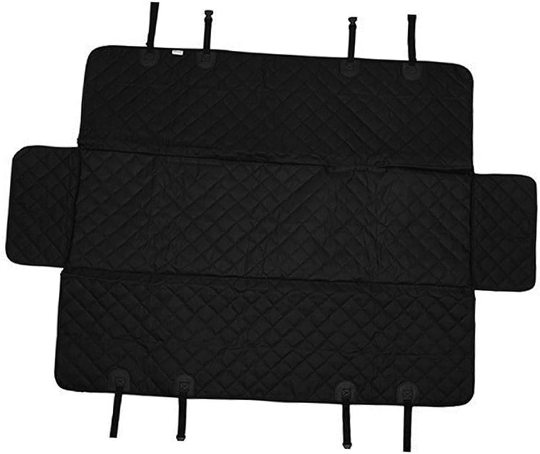 B Blesiya Black Pet Dog Car Seat Cover  Double Oxford Pet Travel Hammock Waterproof Back Seat Predector Mat