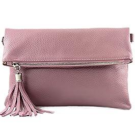 modamoda de – ital d'embrayage/sac à bandoulière en cuir petit T167