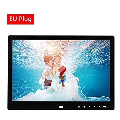 Eruditter Digitale magnetische Fotorahmen mit 13-Zoll-Bildern Magnetische BilderrahmenWidescreen Multifunktional HD 1280 800 mit Berührungstaste