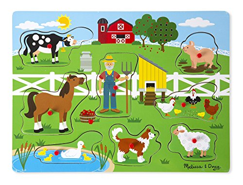 Melissa & Doug Old McDonald's Farm | Puzzles | Wood | 2+ | Gift for Boy or Girl