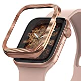 Ringke Bezel Stainless Steel Styling Case Cover for Apple Watch 40mm for Series 4 (Matte Rose Gold, AW4-43, 2018)