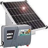 VOSS.farming Set recinti elettrici con Pannello fotovoltaico 50 W, elettrificatore 12 V Sirus 8 e Scatola Metallica