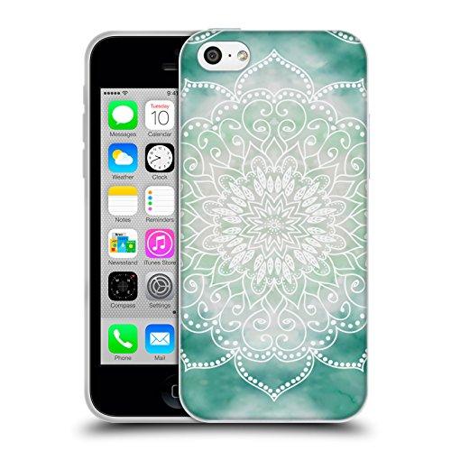Head Case Designs Licenza Ufficiale Nika Martinez Boho Verde Mandala Cover in Morbido Gel Compatibile con Apple iPhone 5c