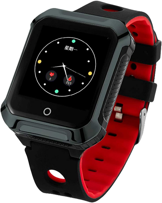 JingJingQi Fitness-TrackerGPS A20S Smart Uhr BDS WiFi Ortung Pulsmesser Schrittzhler Smartwatch Fitness Tracker für Android IOS, Twilight, englische Version