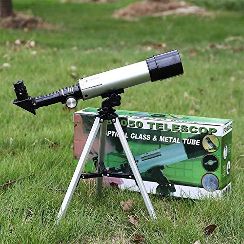 SLM-max Telescopio HD,Telescopios para niños y Adultos Astronomía Profesional, Regalo para Principiantes de astronomía, con trípode, de Viaje con Aumento