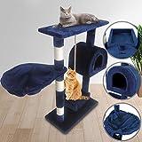 Kratzbaum für Katzen - 60x30x96 cm, mit 1 Höhle, Körbchen, Seil spielen und...