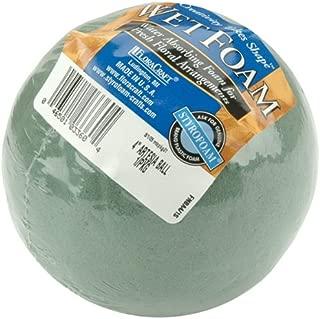 Floracraft Wet Foam Ball, 4-Inch, Green