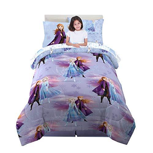 Franco Kids Bedding Super Soft Comforter and Sheet Set with Sham, 5 Piece Twin Size, Disney Frozen 2
