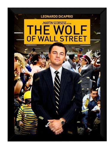 Quadro Filme O Lobo De Wall Street The Wolf Poster Moldurado