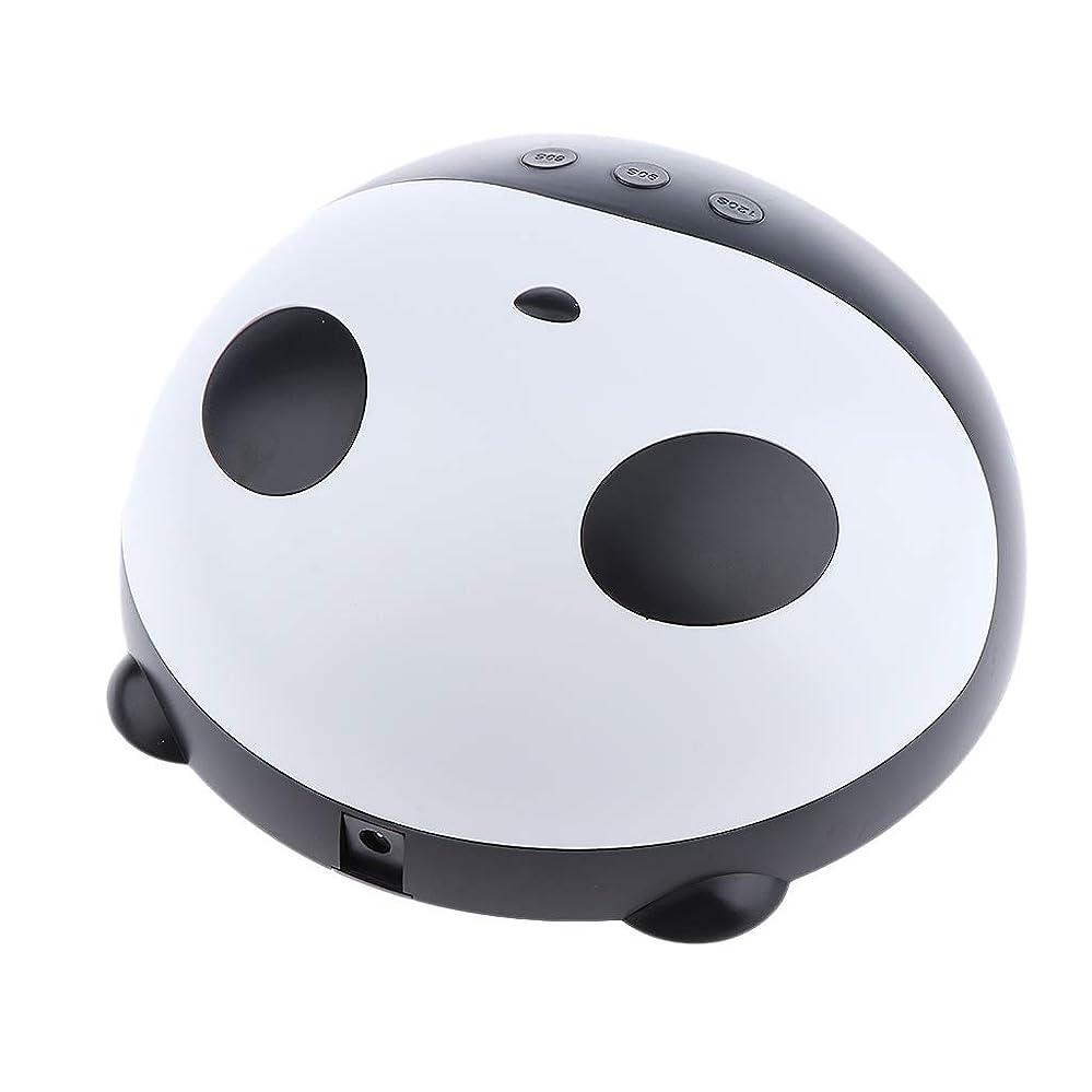 記者次添付F Fityle ネイルドライヤー USB充電式 パンダ 可愛い ネイルランプ ジェルベース 硬化灯 乾燥機
