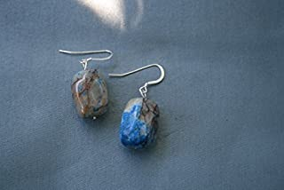 Papagoite and Ajoite Earrings love, healing and returning to the state of grace 4483