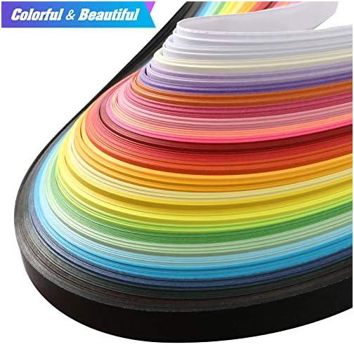Anndason Paper Quilling Strips Set 2080 Strips 26 Colors, 3/5/ 7/10 mm (8 Sets) |
