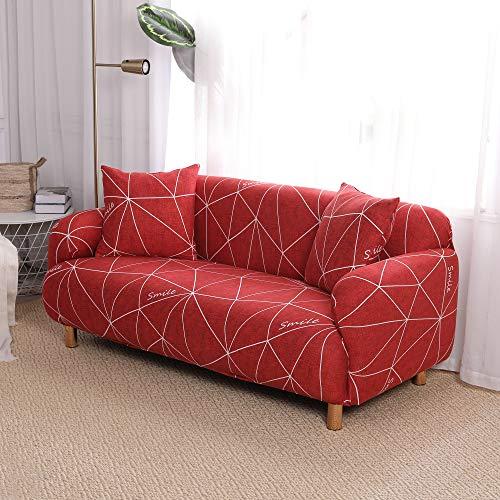 SDINAZ Fundas de sofá 2 plazas con 2 Fundas de Cojines Elas