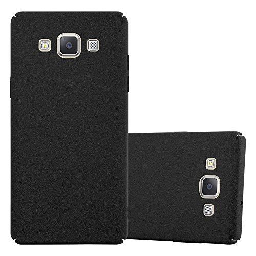 Preisvergleich Produktbild Cadorabo Hülle für Samsung Galaxy A5 2015 (5) - Hülle in Frosty SCHWARZ Hardcase Handyhülle im matten Frosty Design - Schutzhülle Bumper Back Case Cover