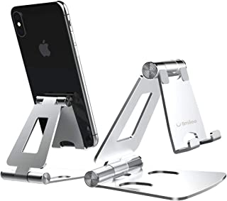 Smilee Cell Phone Stand, Fully Foldable, Adjustable Desktop Phone Holder Cradle Dock Compatible with Phone 11 Pro Xs Xs Ma...