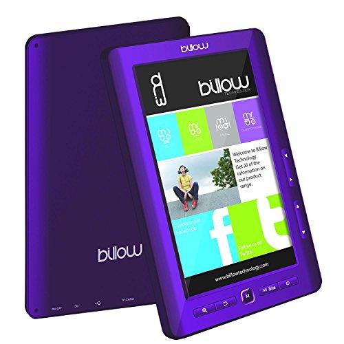 BILLOW Libro ELECTRONICO Multimedia Pantalla DE 7 TFT Color Purpura