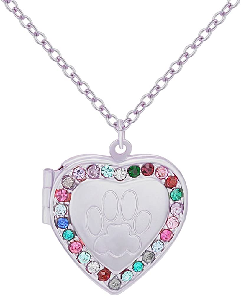 BEICHUANG Heart Locket Birthstone Necklace Charms Pendant for Mom