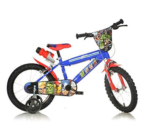 Mediawave Store Bicicletta Bambino Dino Bikes 416 UL-AV Misura 16 Avengers Bici età 4-7 Anni