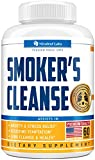 Smoker's Cleanse - All-Natural Lung Support Supplement - Made in USA - Lung Cleanse and Detox for Smokers - Respiratory Support & Quit Smoking Aid - Non-GMO & Vegan-Friendly - 60 pcs