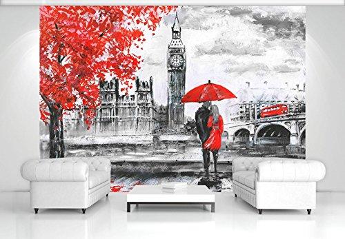 DekoShop Fototapete Vlies Tapete Moderne Wanddeko Wandtapete London AMD11471VEXXL VEXXL (312cm. x 219cm.) Stadt/städtisch