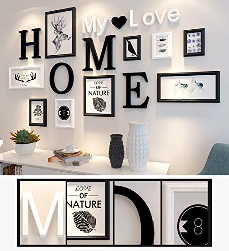 HAOLY Einfache Moderne Fotowand,Dekoration Wohnzimmer Massivholz Ungültige Anforderung Wand Kreativ Ungültige Anforderung Hintergrundwand-b