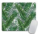 Banana Leaf Mouse Pad Green Office Decor Gift Dorm Decor Pink Mousepad Tropical Cubicle Decor Desk Decor Office Desk Accessories