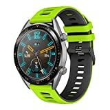 Correa para Galaxy watch 3 45mm/Huawei Watch GT 46mm, 22mm Silicona Banda Deportiva Pulsera para...