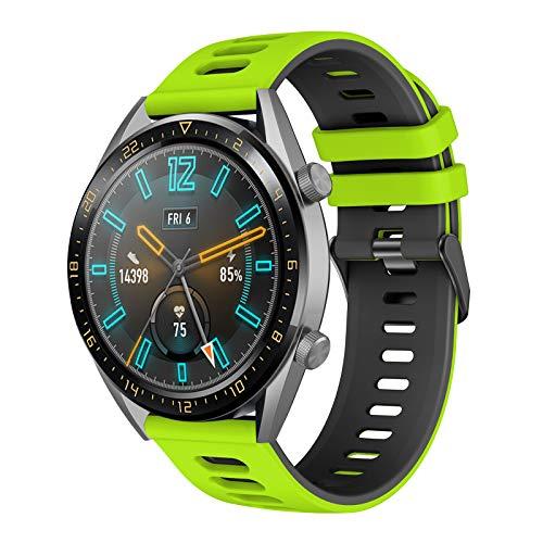 YASPARK Armband für Huawei Watch GT2 46mm/GT 46mm, 22mm Ersatzarm silikon Sport Armband kompatibel für Huawei Watch GT Active/GT2 Pro/Honor Watch Magic/Galaxy Watch 46mm/Gear S3/Galaxy Watch 3 45mm