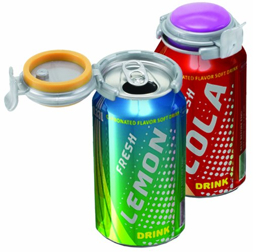 Jokari Fizz-Keeper Can Pump and Pour, Assorted Colors (Pack of 1)