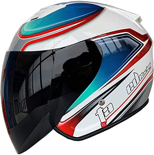 Casco de Casco de Motocicleta de Verano / ECE Aprobado Abierto Casco DE MOTORCAS Abiertas con Colgante DE Sol Retro Cap DE MOTORIA...