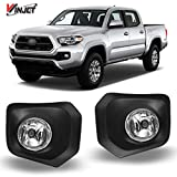 Winjet Compatible with [2016 2017 2018 2019 2020 Toyota Tacoma] Driving Fog Lights + Switch + Wiring Kit, clear (WJ30-0448-09)