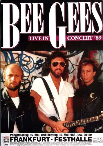 Bee Gees - Live in Concert, Frankfurt 1988 » Konzertplakat/Premium Poster | Live Konzert Veranstaltung | DIN A1 «