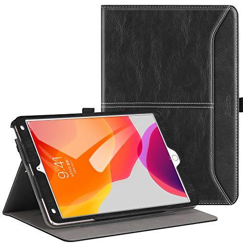 ZtotopCase Hülle für Neu iPad 10,2 (8. Generation/7. Generation), Premium Leder Geschäftshülle mit Ständer,Kartensteckplatz, Auto Schlaf/Aufwach Funktion für iPad 10,2