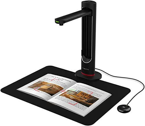 VIISAN Portable Book & Document Scanner for Mac & Window, High Definition 23MP,Multi-Language Detection and Auto-Flat...