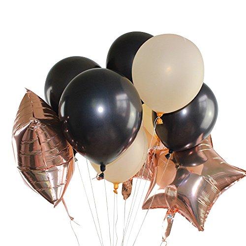 serliy Rose Gold Folie Ballon Set Helium Konfetti Geburtstag Hochzeit Party Liebe Dekor (Rose Gold)