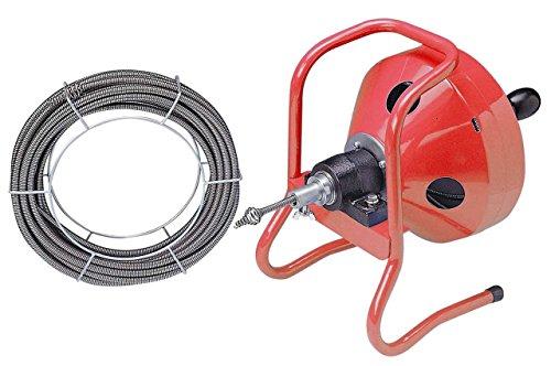 Hand-Rohrreinigungsmaschine mit 2 Spiralen, 8,5mm x 15m & 10,5mm x 15m, zur Rohrreinigung für Profi, Haushalt, Gastronomie, etc.