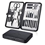 Beauty Shopping Manicure Set 18pcs Professional Grooming Kit – Stainless Steel Nail Clippers