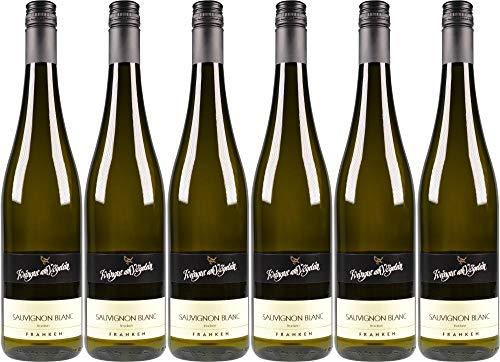 6x Sauvignon Blanc trocken 2018 - Weingut am Vögelein, Franken - Weißwein