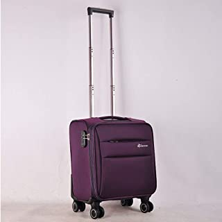 YCYHMYF 16-inch Waterproof Oxford Cloth Soft Suitcase Business Suitcase Universal Wheel Lever Boarding case (Purple)