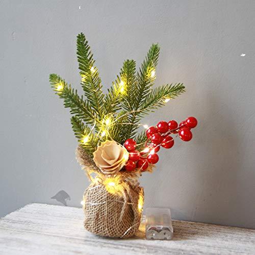Mini Weihnachtsbaum Esstisch Dekoration mit LED Lichterkette batteriebetrieben, Dapei Warmweiß Kupferdraht Lichterketten für Partys, Weihnachten, Deko, Hochzeit, als Stimmungslicht