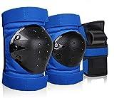 GARDOM Protezioni di Pattinaggio Rotelle per Bambini, 6 in 1 Ginocchiere, Paragomiti, Protezioni Polsi per Pattinaggio in Linea, Rotelle Skate Skateboard Bicicletta(6PCS) (Blu, S)