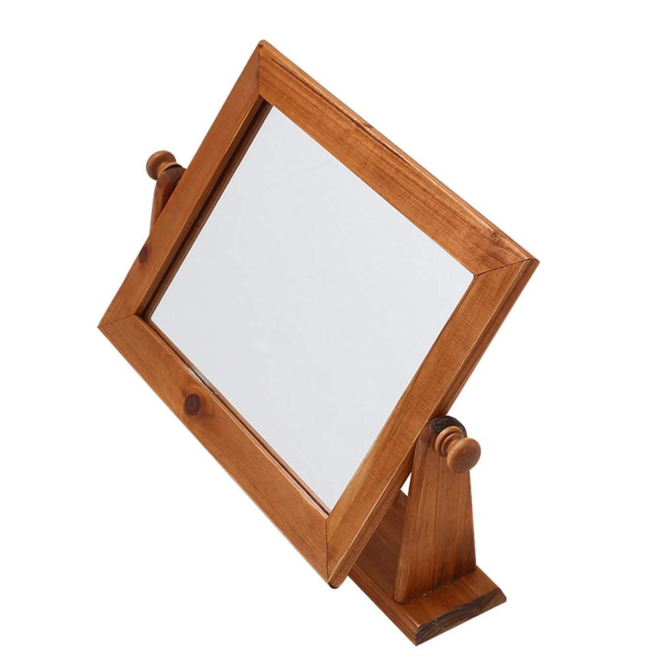 一族ふくろう家庭教師純木化粧鏡、デスクトッププリンセスミラーヨーロッパ現代のカウンタートップミラー浴室シングルミラー小さなミラー