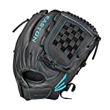 EASTON BLACK PEARL Fastpitch Softball Glove | 2020 | Right-Hand Throw | Female Athlete Design | 12.5' | All Position Glove | Woven Web | Select Cowhide Leather | Flex Notch | Soft Palm | BP1250FP
