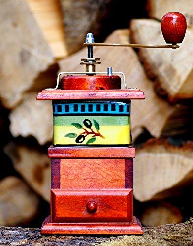 Kaffeemühle Porzellan Typ 1 Holz Gewürzmühle Bunzlauer Mühle Handarbeit Espressomühle