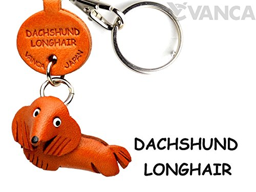 [Handmade made in Japan, new, craftsman] [VANCA present leather key chain dachshund long hair anywhere demo doggy (japan import)