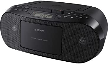 Sony Portable Stereo Cd Player & Tape Cassette Recorder With Digital Tuner AM/FM Radio & Mega Bass Reflex Stereo Sound System Plus 6ft CubeCable Aux Cable to Connect Any Ipod, Iphone or Mp3 Digital Audio Player