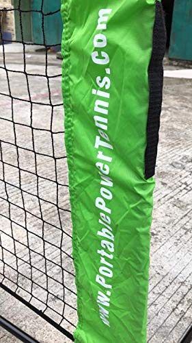 Portable Power Tennis Set (Mini Net, 6 High Density Foam Balls, Carry Bag)