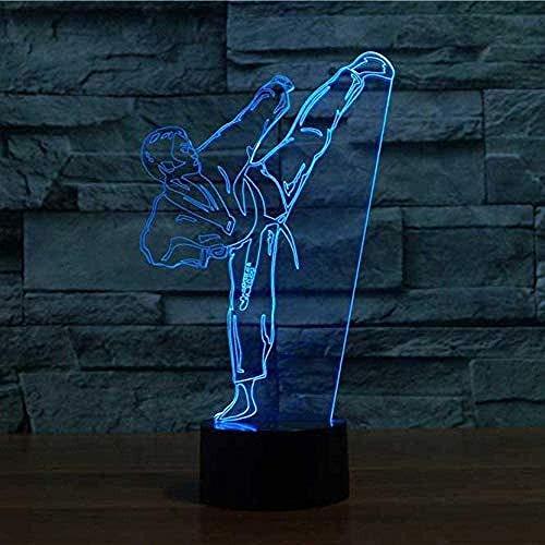 Lámpara De Mesa Con Forma De Karate Creativa