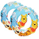 com-four® 2x Swim tires for swimming fun - Swim ring with motifs of the Disney characters Winnie the Pooh, Tigger and I-Aah (02 pieces - Ø 45cm Winnie the Pooh)